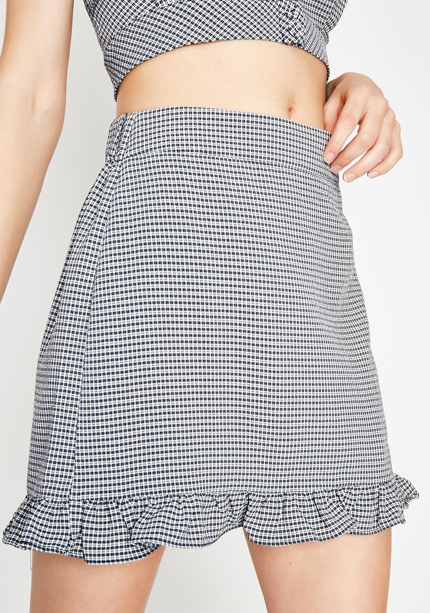 Headin' Home Gingham Skirt