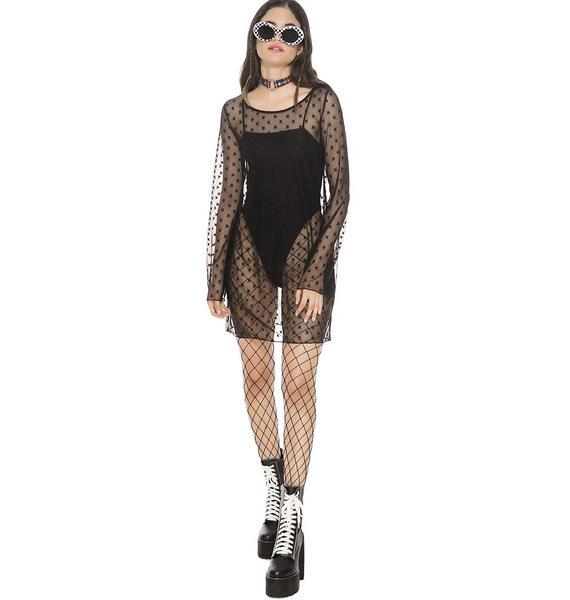 Dark Night Mesh Dress