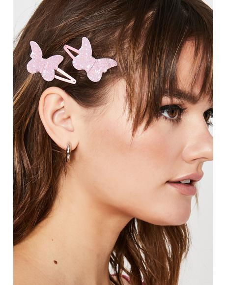 Sugar U Gimme Butterflies Hair Clips