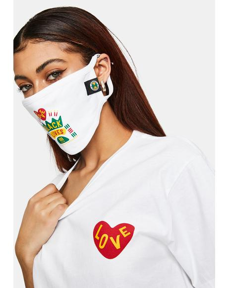 Black Lives Are Loved Face Mask