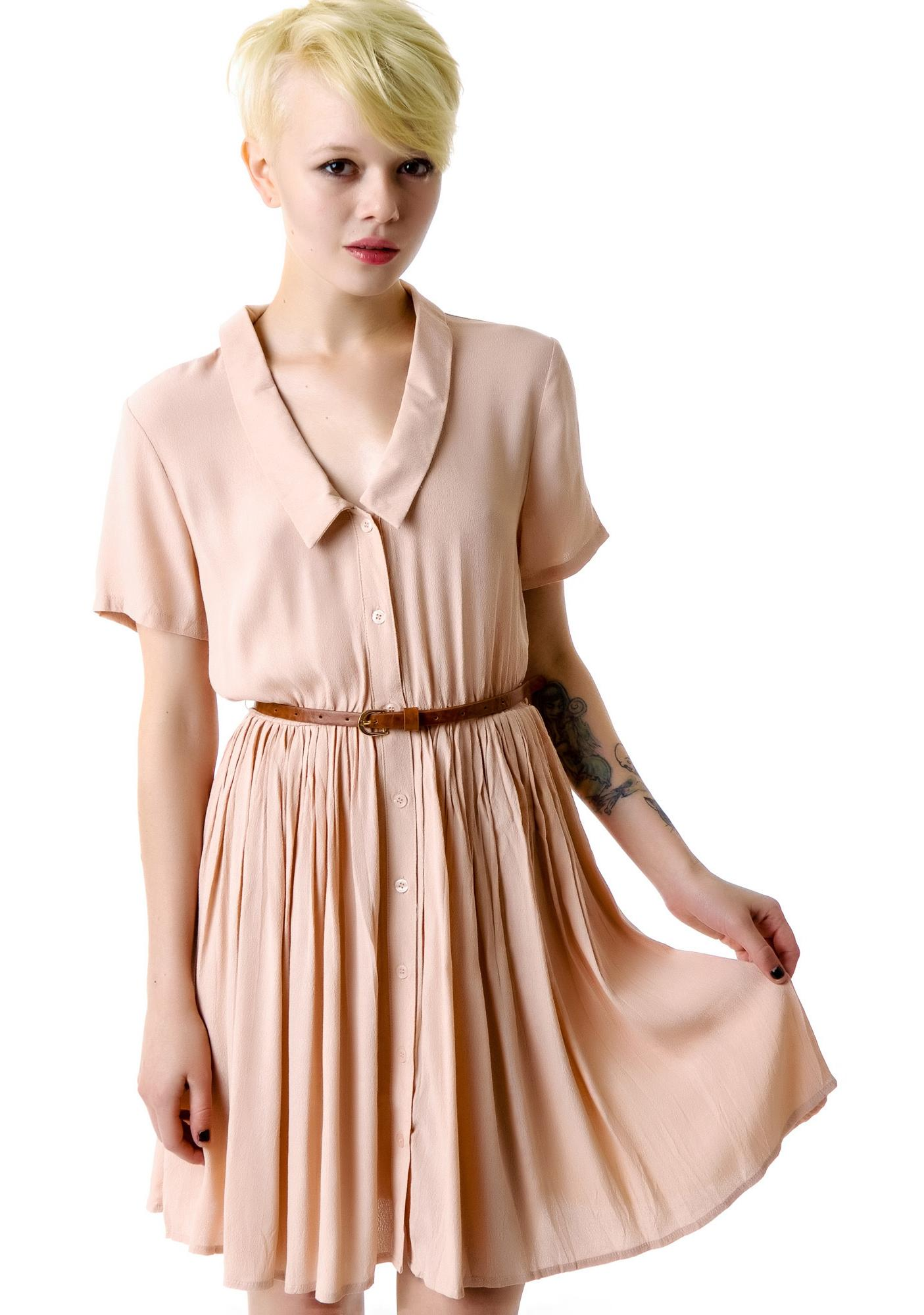 Innocence Belted Button Down Dress