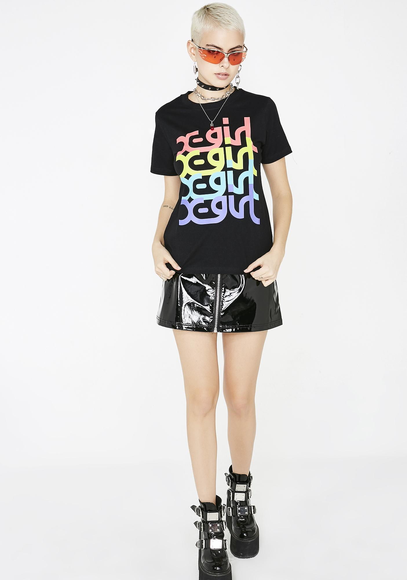 x-Girl Colorful Mills Logo Tee