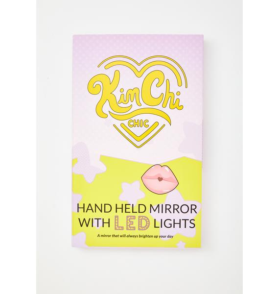 KimChi Chic Beauty Lavender LED Light Hand Mirror