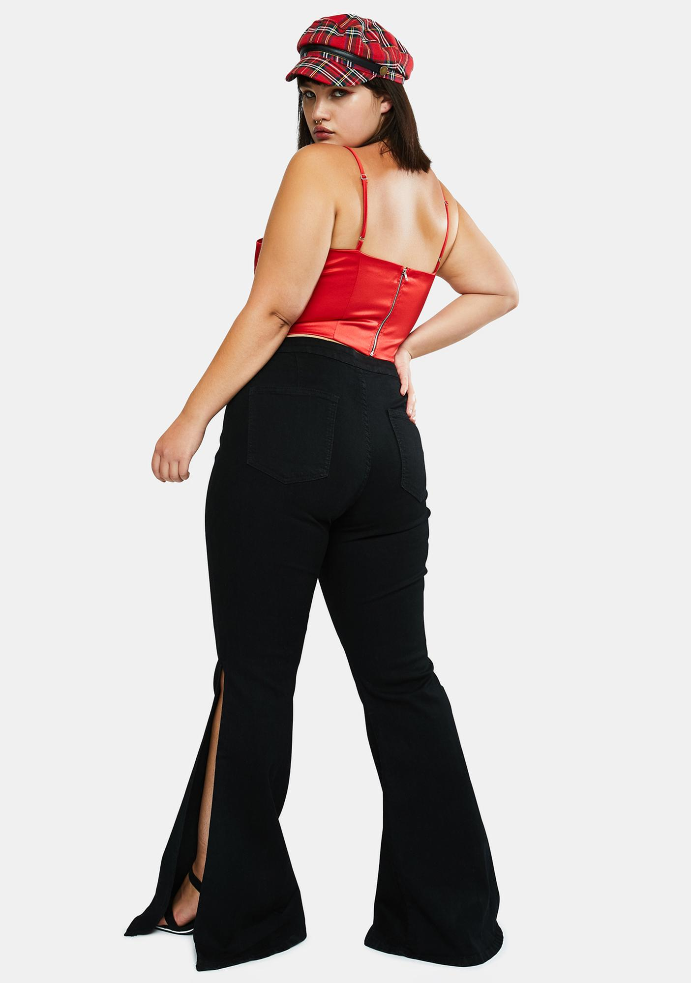 Bad Mz Movin' And Groovin' Flare Jeans