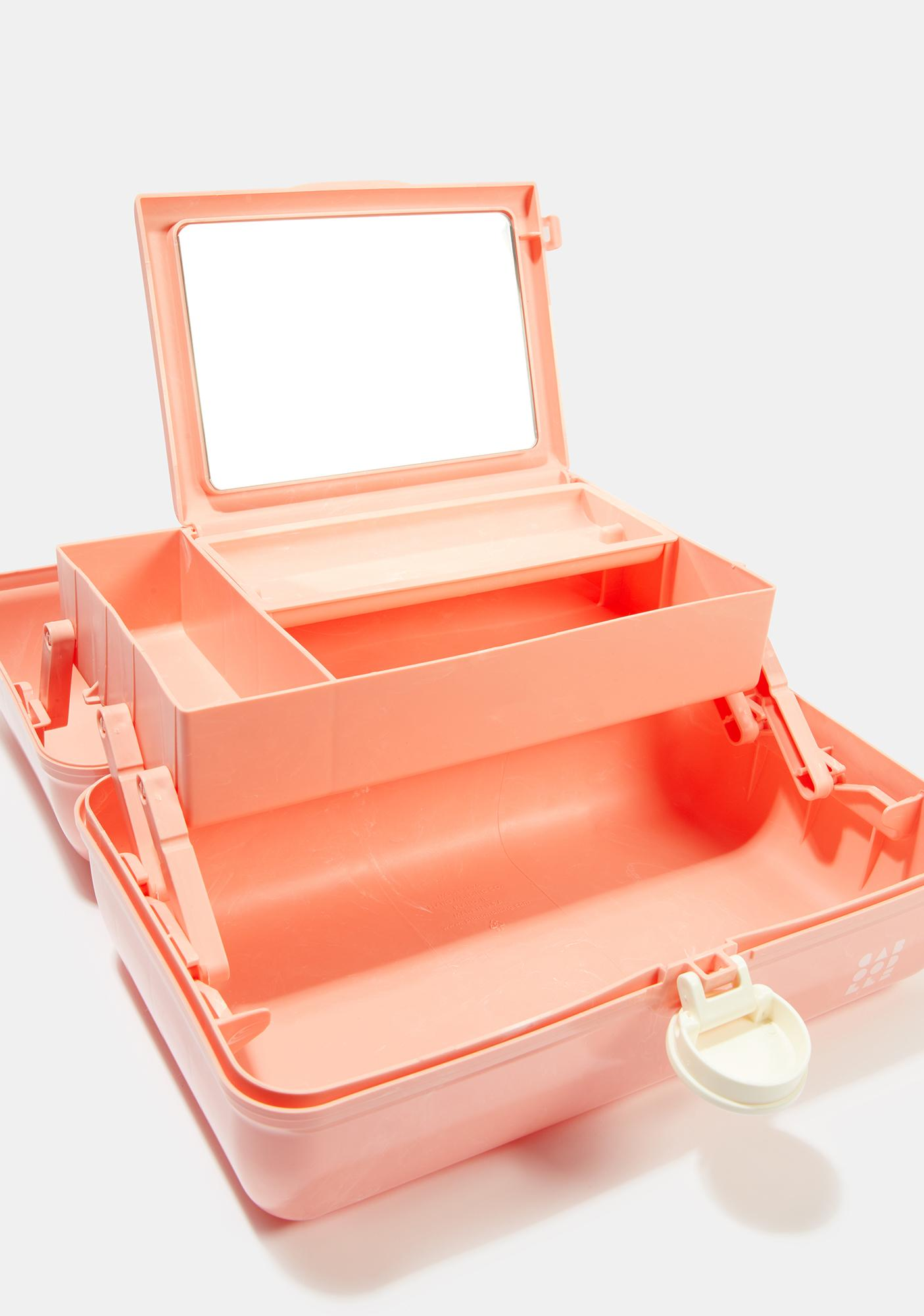 Caboodles On The Go Girl Peach Marble Caboodle