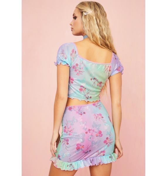 Sugar Thrillz Pixie Spritzer Butterfly Skirt
