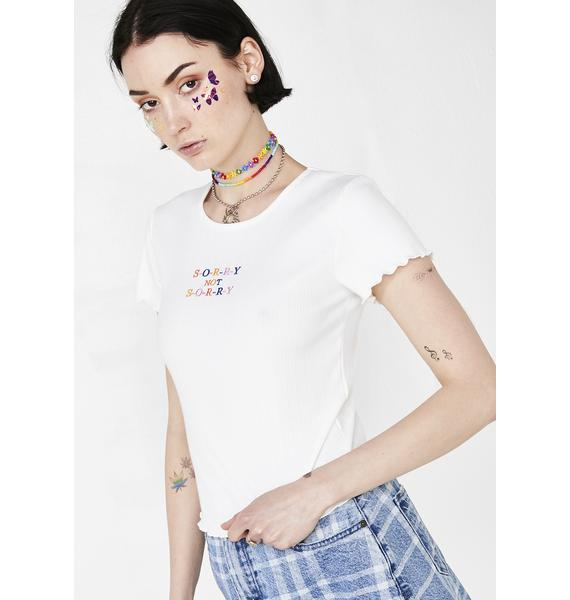 I Ain't Sorry Embroidered Tee