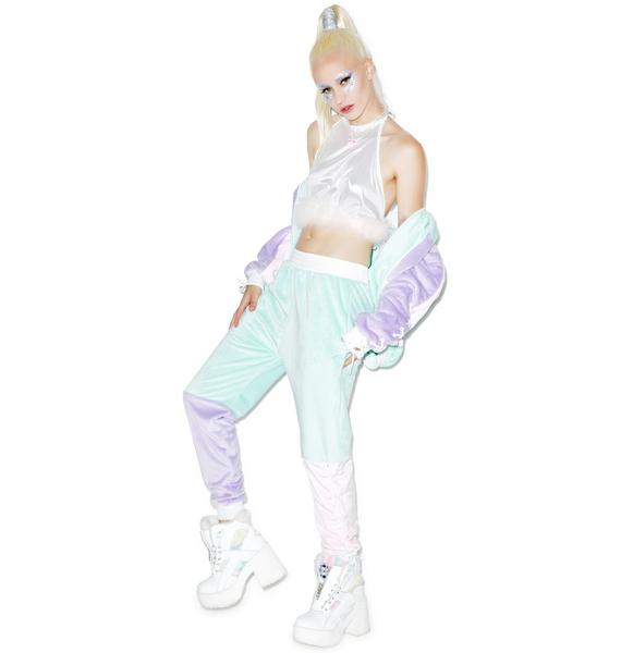 Coveted Society Pastel Faux Fur Joggers