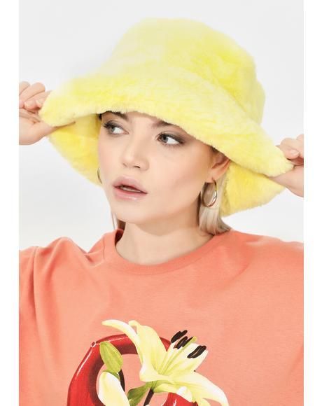 Solar Here We Go Furry Bucket Hat