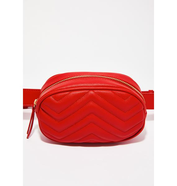 Red Quilted Belt Bag | Dolls Kill : red quilted bag - Adamdwight.com