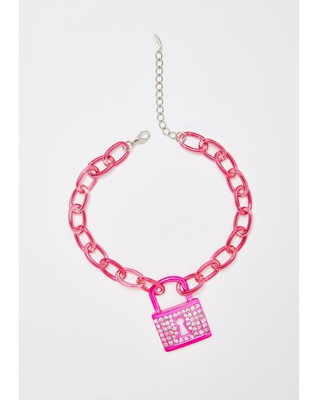 Sweet Mystery Lock Necklace