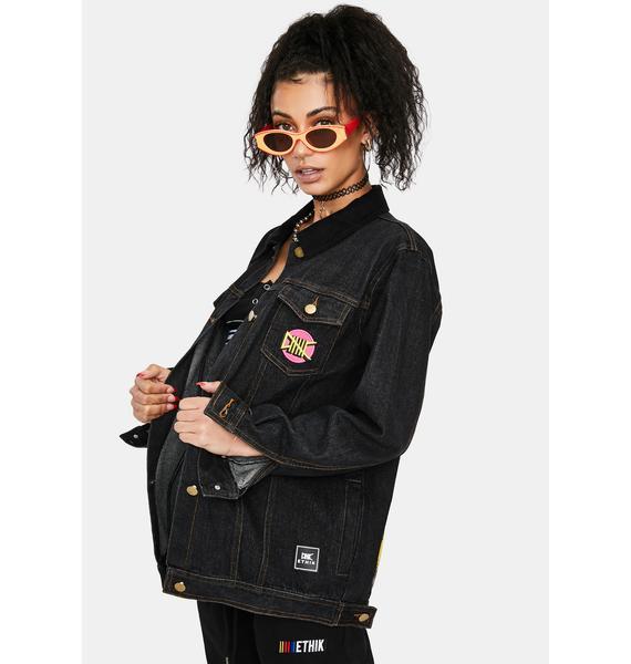 ETHIK Black E Stack Denim Jacket