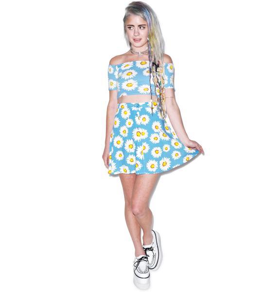 Motel Daisy Andrea Button Down Skirt