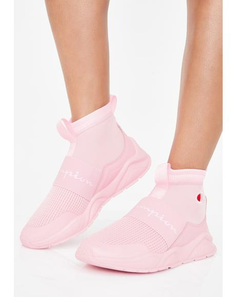 Pink Candy Rally Sock Sneakers