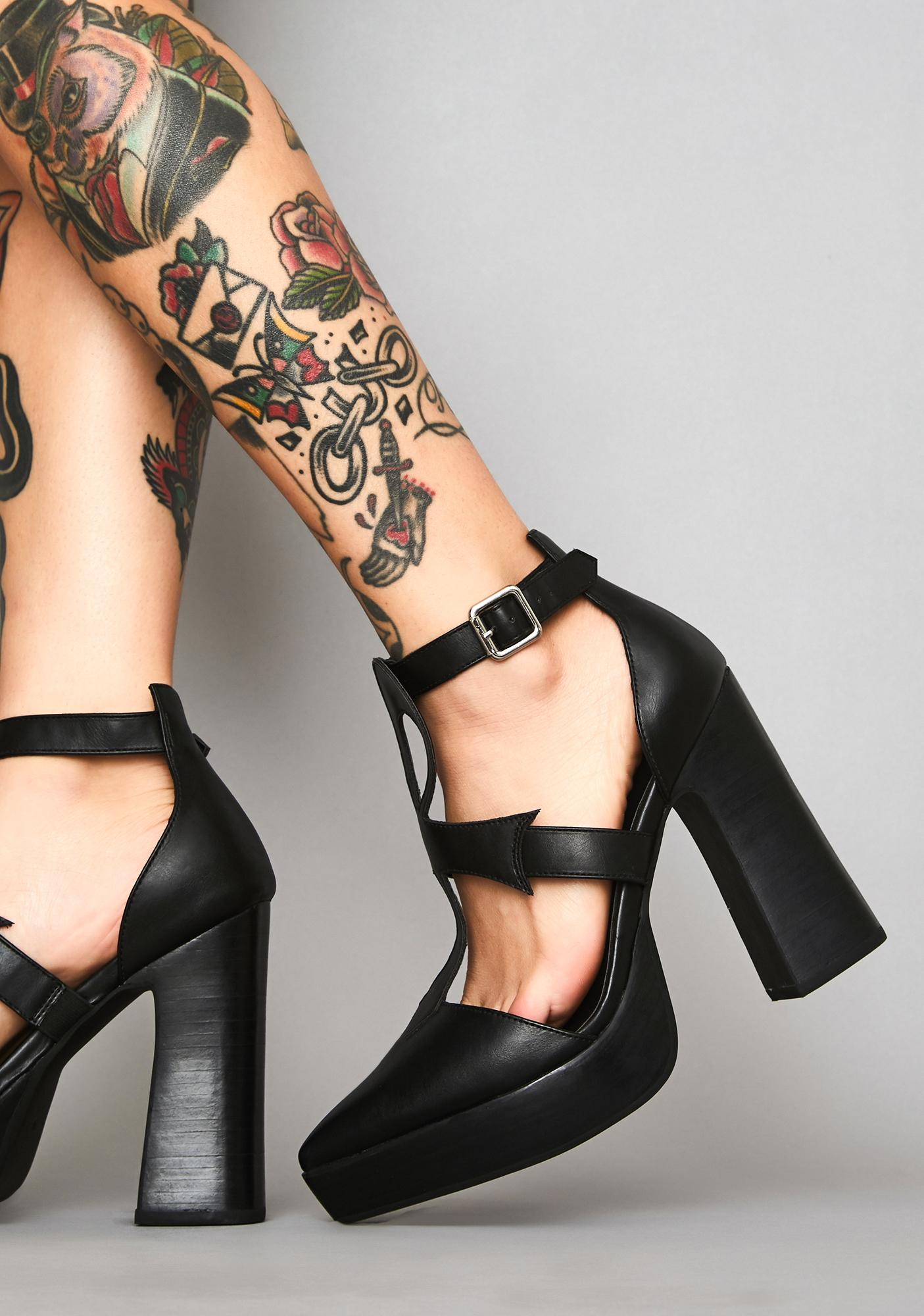 Widow Life After Death Platform Heels