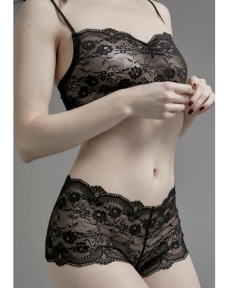 Horribly Ever After Lace Boyshorts