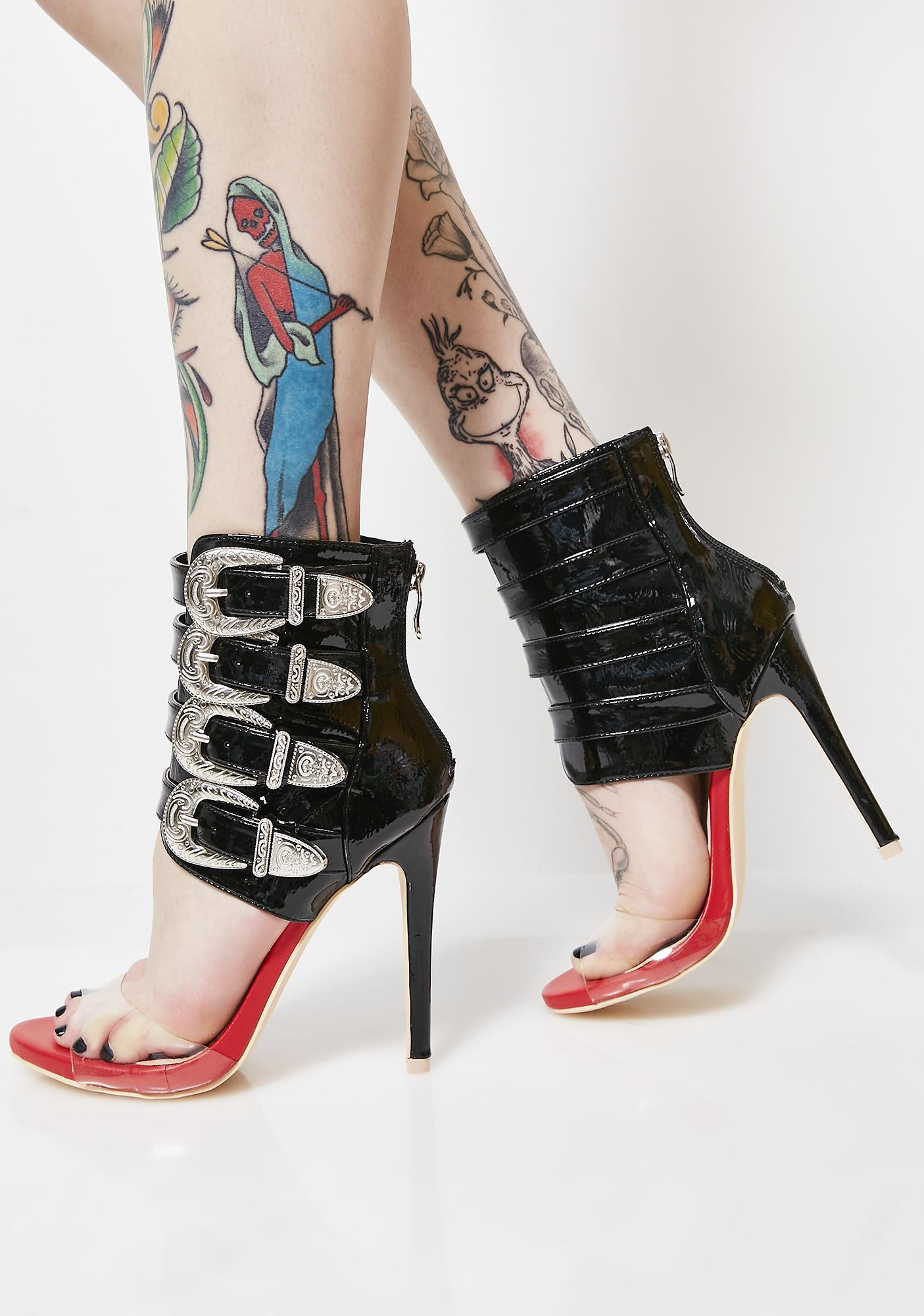 Ready For Anything Buckle Heels