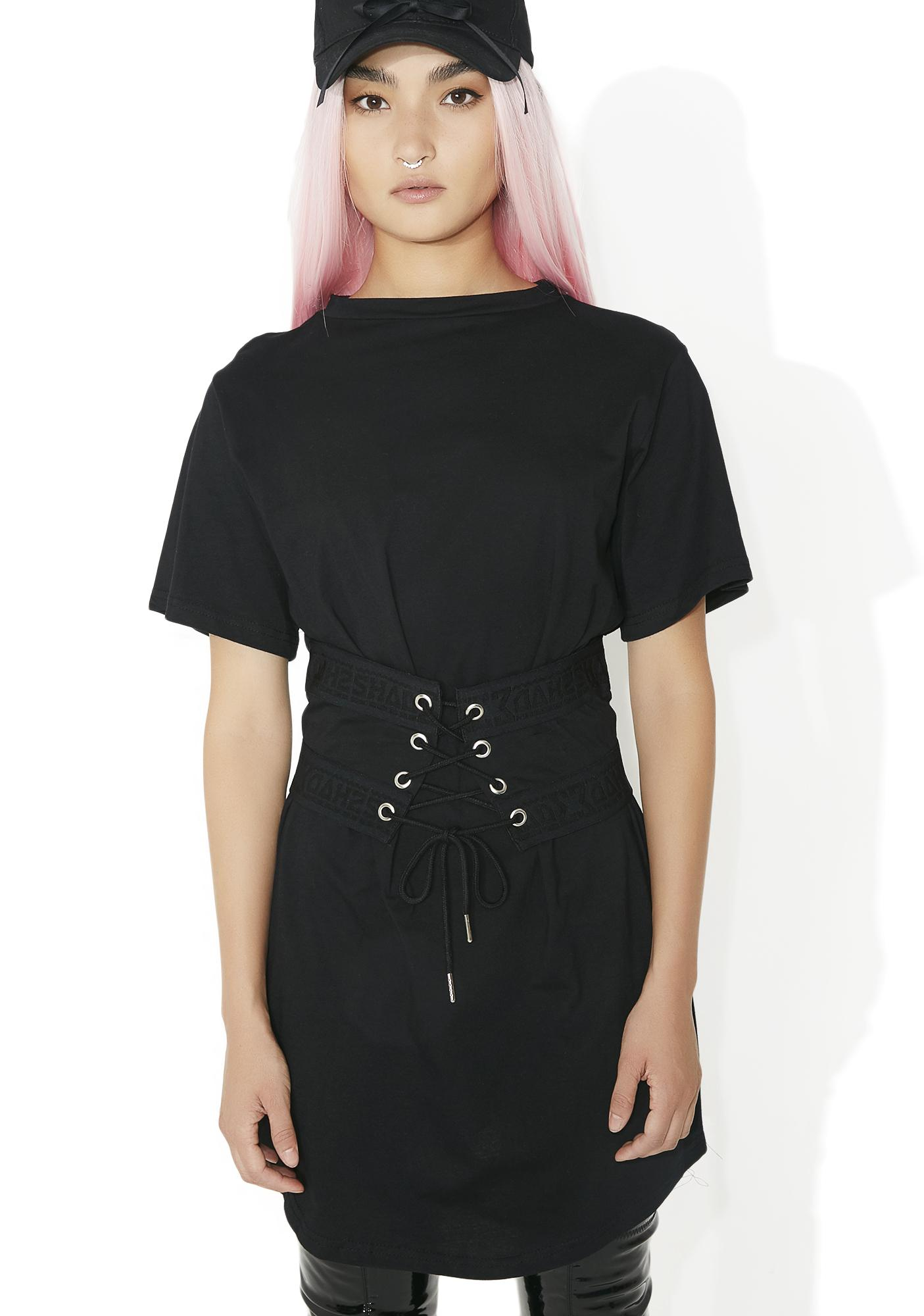 Shade London Lace Up Cincher T Dress