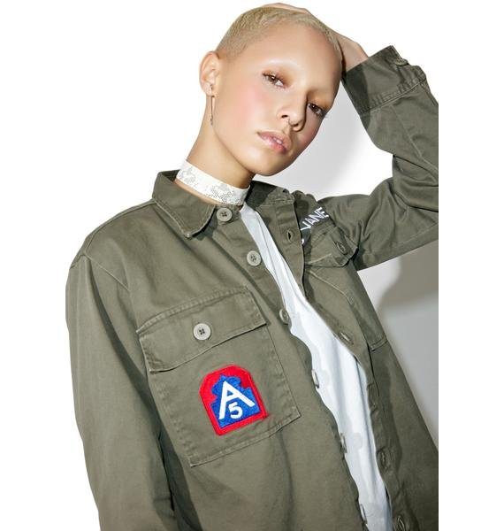 Jac Vanek Bad Choices Vintage Army Jacket