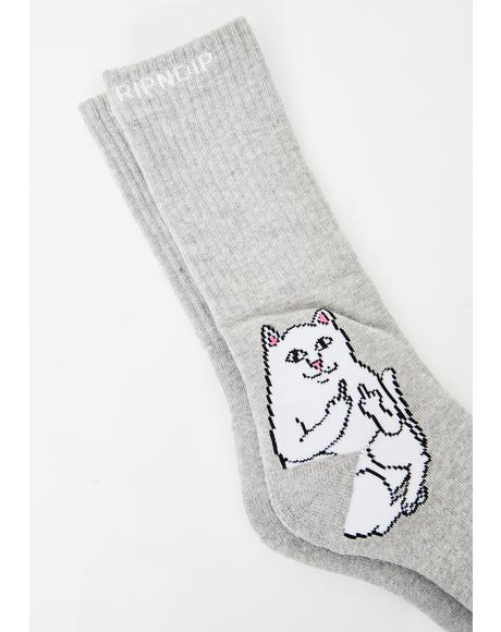 Heather Grey Lord Nermal Socks