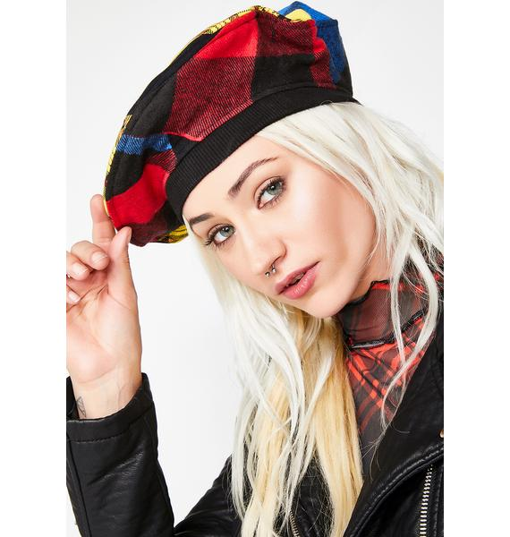 Fresh Off The Runway Patchwork Beret