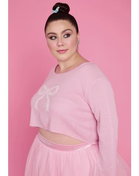 Truly Precious Pirouettes Crop Sweater
