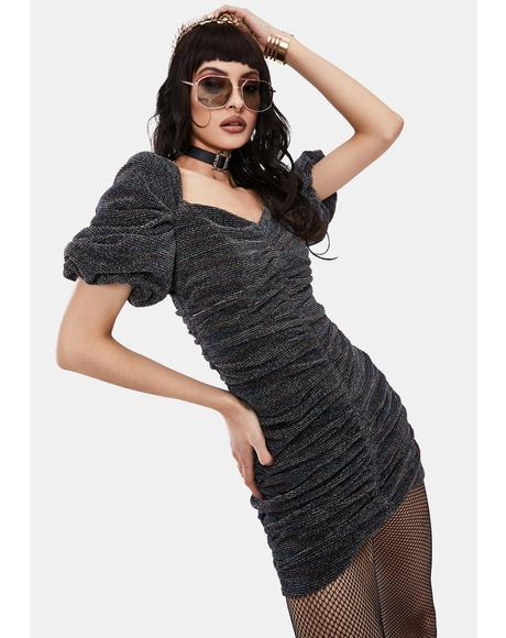 Joplin Metallic Ruched Mini Dress