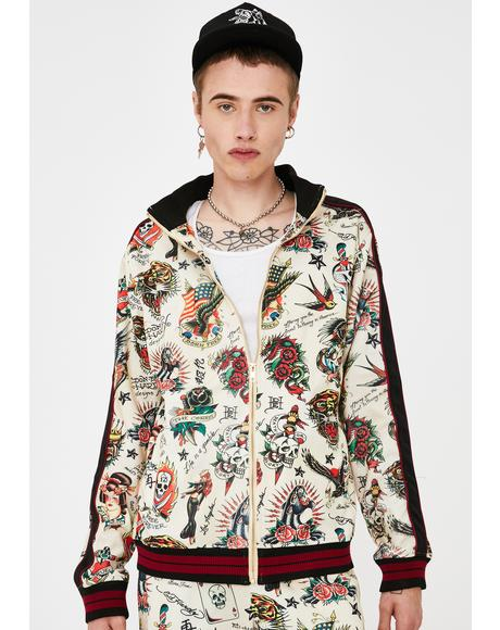 Slim Fit Embellished Track Jacket