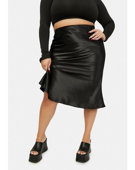 Noir Gotta Look The Part Midi Skirt