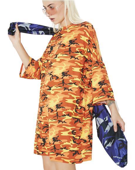 Orange Camo Dress