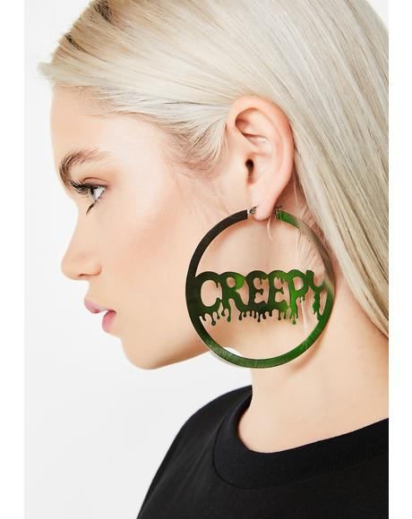 Keep It Creepy Hoop Earrings