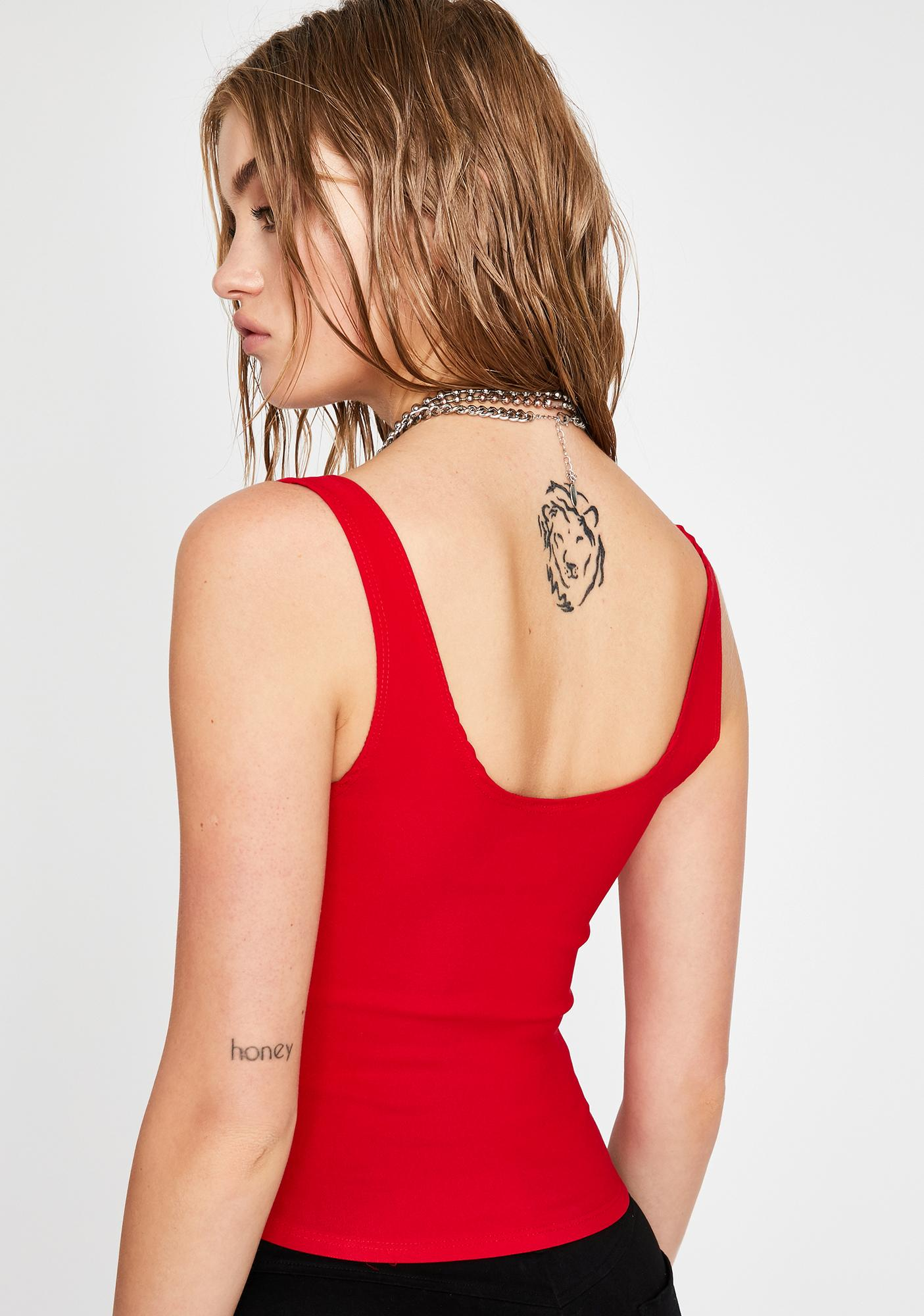 Ruby Hardly Yours Corset Tank