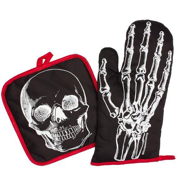 Sourpuss Clothing X-Ray Skeleton Kitchen Set