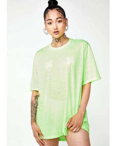 Letz Hang Neon Mesh Tee