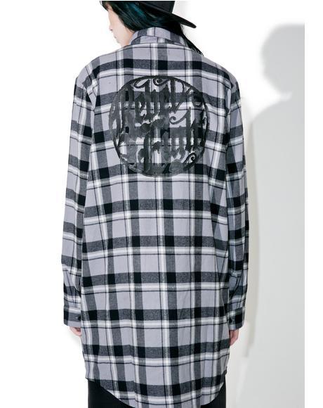Ornate Badge Flannel Dress