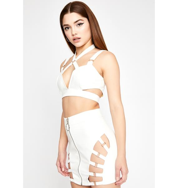 Pure Iconic Kinks Cut-Out Skirt