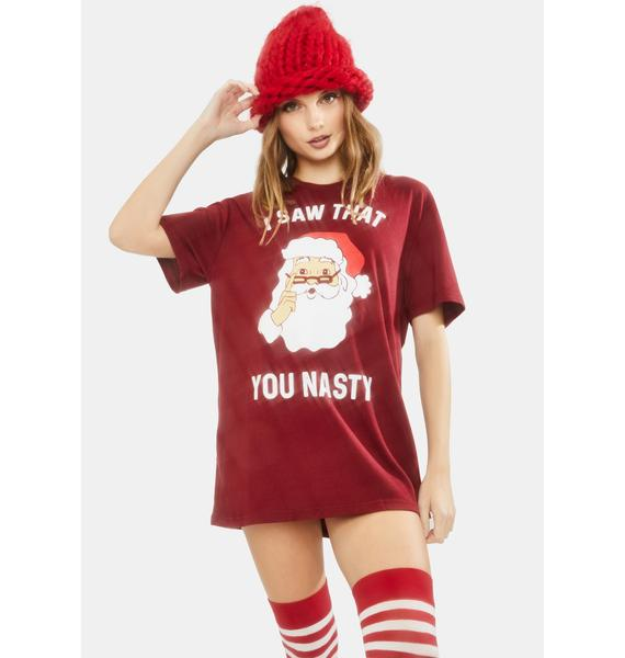 Tipsy Elves You Nasty Santa Graphic Tee