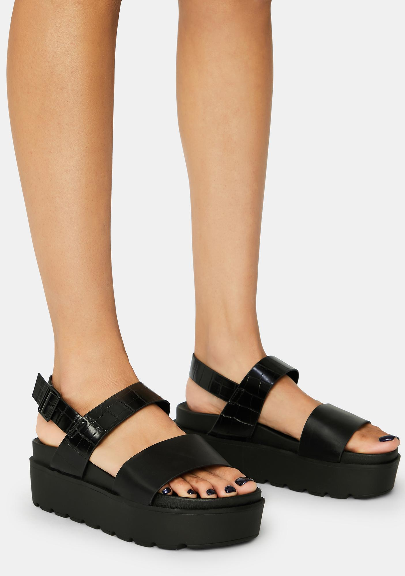 Shadow Lost Without You Platform Sandals