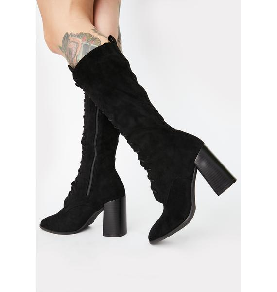 Loveless Mystery Lace Up Boots