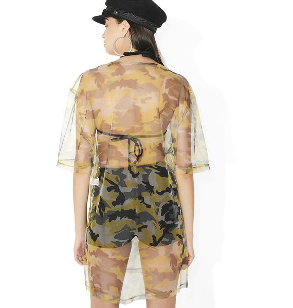 Predator Sheer T-Shirt Dress