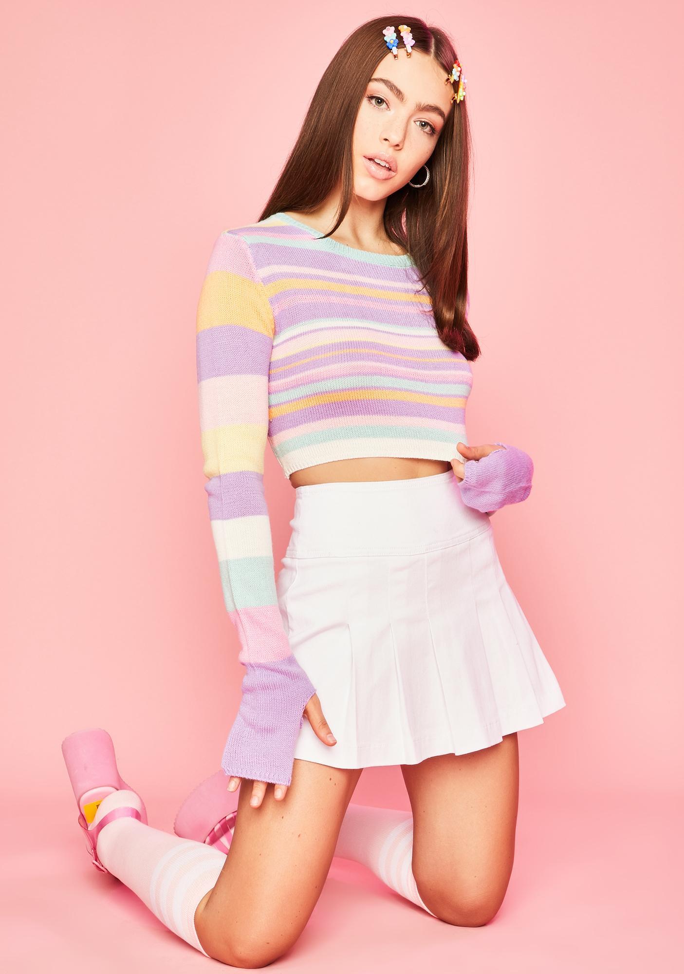 Sugar Thrillz Pick Ur Pleasure Crop Sweater