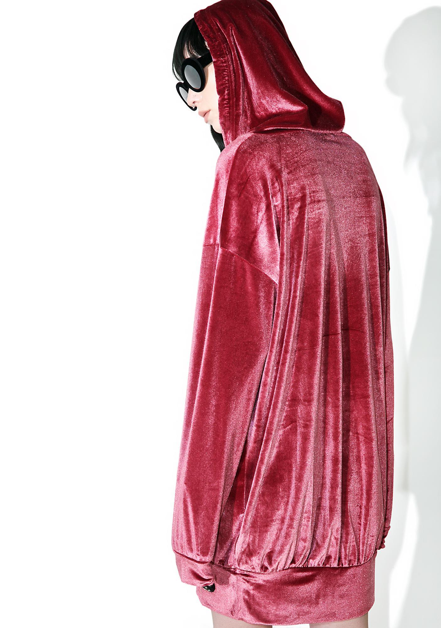 Rose Lush Velvet Hoodie