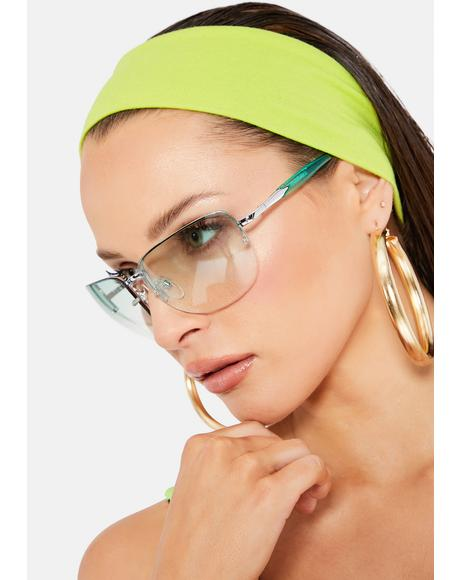 Green Delilah Sunglasses
