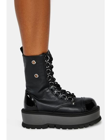 Battle Ready Platform Combat Boots