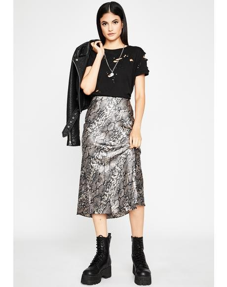 Bitten Lush Club Midi Skirt