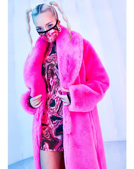Neon Kitten Faux Fur Coat