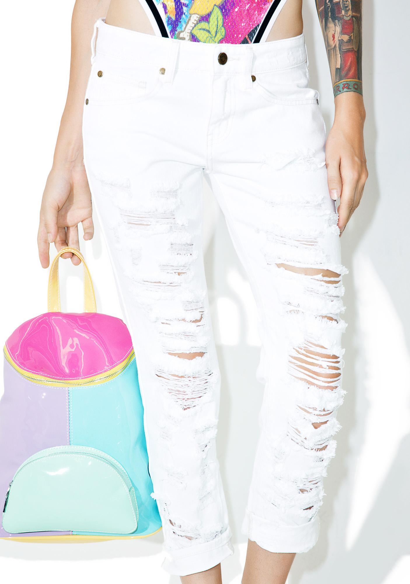 Over It Destroyed Boyfriend Jeans
