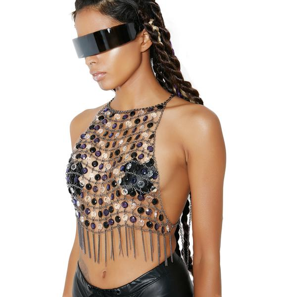 Dark Crystal Candiez Beaded Chain Top