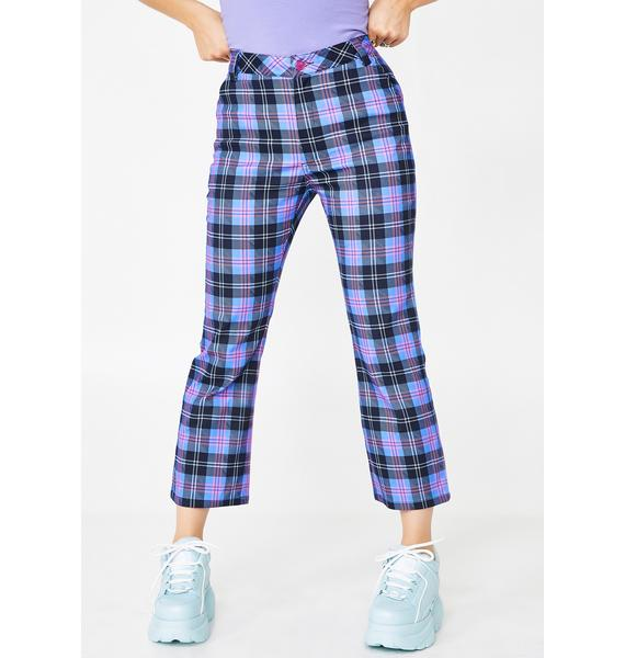 Lazy Oaf Check Me Out Flare Trousers