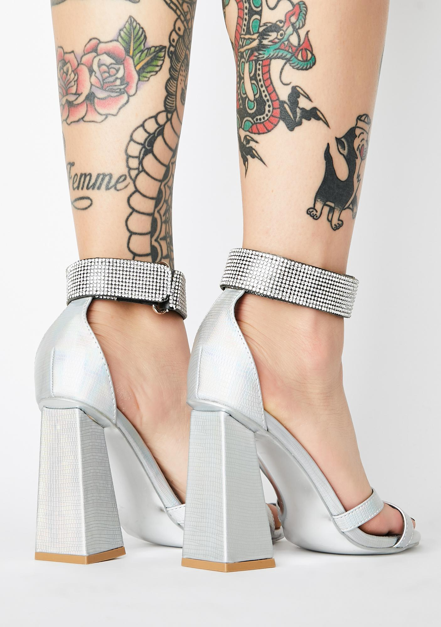 Hologram Princess Iridescent Heels